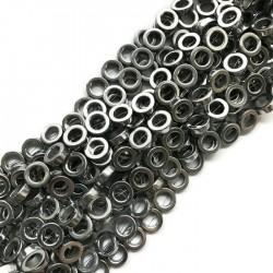 Hematyt kółko 10x4mm srebrny sznurek