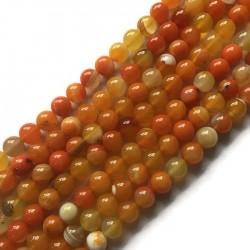 Agat kulka 10mm pomarańczowy sznurek