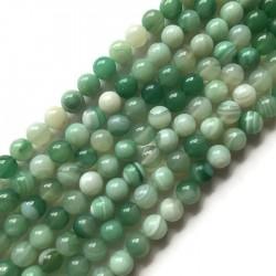 Agat kulka 10mm zielony sznurek
