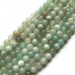 Agat kulka 10mm jasno zielony sznurek