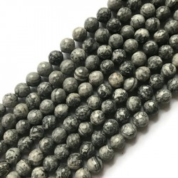 Jaspis Szary kulka 10mm sznurek