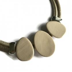 Naszyjnik z ceramiki OWAL kremowy ecru