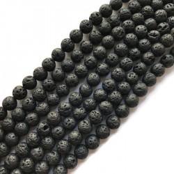 Lawa czarna kulka 10mm sznurek