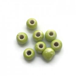 Kulka ceramiczna 7x5mm zielony