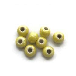 Kulka ceramiczna 7x5mm żółty