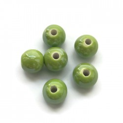 Kulka ceramiczna 10mm zielony
