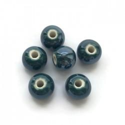Kulka ceramiczna 10mm ciemno zielony
