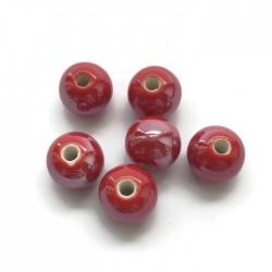 Kulka ceramiczna 10mm czerwony