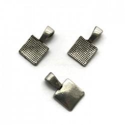 Krawatka do przyklejania 17x10mm cyna