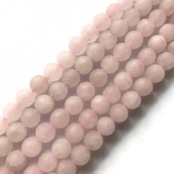 Kwarc różowy kulka 10mm sznurek