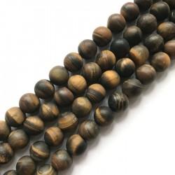 Tygrysie oko kulka 10mm brązowy sznurek