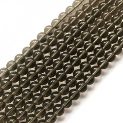 Kwarc dymny kulka 10mm brązowy sznurek