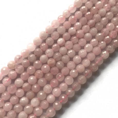 Kwarc różowy kulka 8mm sznurek