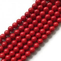 Jadeit kulka 10mm czerwony