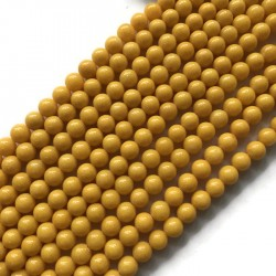 Jadeit kulka 8mm żółty