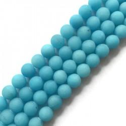 Jadeit kulka 10mm błękitny