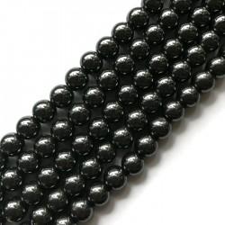 Hematyt kulka 10mm czarny sznurek