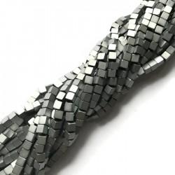 Hematyt kostka 4x4mm srebrny sznurek