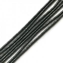Hematyt oponka 3x2mm szary sznurek
