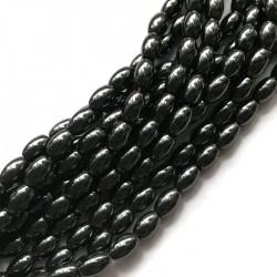 Hematyt oliwka 8x5mm czarny sznurek