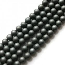 Hematyt kulka 8mm czarny sznurek