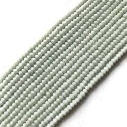 Jadeit oponka 4x3mm biały sznurek