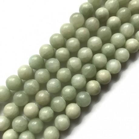 Jadeit kulka 10mm zielony pastela