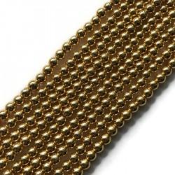 Hematyt kulka 6mm light rose gold sznurek