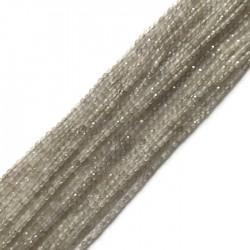 Agat szary kulka 2mm sznurek