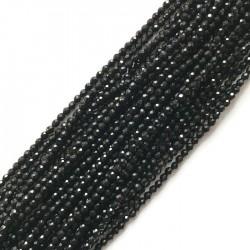 Agat czarny kulka 3mm sznurek