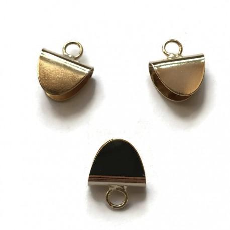 Krawatka języczkek z kółeczkiem kolor złoty PL