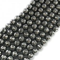 Hematyt kulka 10mm srebrna sznurek