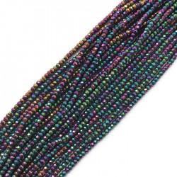 Hematyt oponka 3x2mm fiolet sznurek