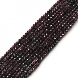 Granat kulka 3mm sznurek