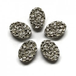 Hematyt kaboszon owalny 10x8,5x4mm srebrny