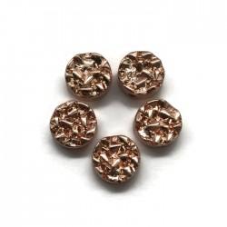 Hematyt kaboszon okrągły 8,5x4mm rose gold