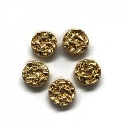Hematyt kaboszon okrągły 8,5x4mm złoty