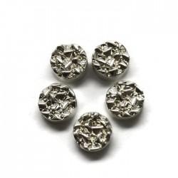 Hematyt kaboszon okrągły 8,5x4mm srebrny
