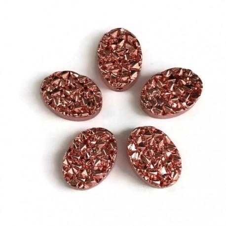 Hematyt kaboszon owalny 14x10x4,5mm rose gold