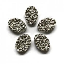 Hematyt kaboszon owalny 14x10x4,5mm srebrny