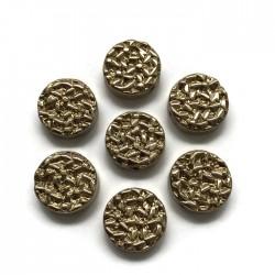 Hematyt kaboszon okrągły 12x4,5mm light rose gold
