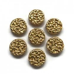 Hematyt kaboszon okrągły 12x4,5mm złoty