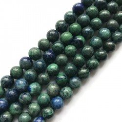 Lapis lazuli kulka 8mm granat z zielonym sznurek