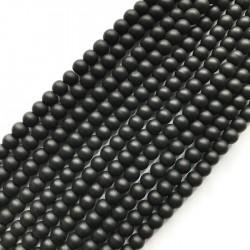 Jadeit kulka 6mm czarny sznurek