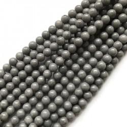 Jadeit kulka 6mm szary sznurek