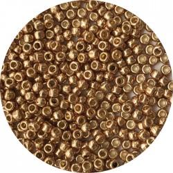 TOHO - Round 11/0 : TR-11-PF592 Permafinish – Galvanized Golden Fleec
