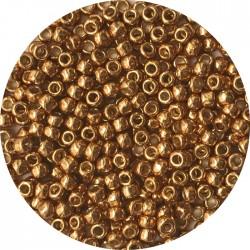 TOHO - Round 11/0 : TR-11-PF591 Permafinish – Galvanized Old Gold