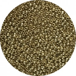 TOHO - Round 11/0 : TR-11-PF559 Permafinish – Galvanized Yellow Gold