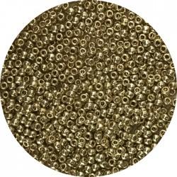 TOHO - Round 11/0 : TR-11-PF559 Permafinish – Galvanized Yellow Gold