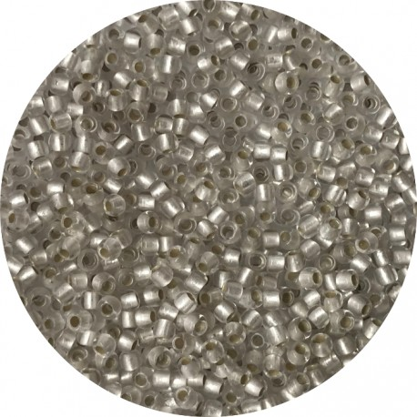 TOHO - Round 11/0 : TR-11-21F Silver-Lined Frosted Crystal
